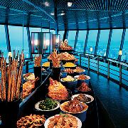 澳門旅遊塔360°自助晚餐含門票+金光飛航 香港往返澳門船票套票