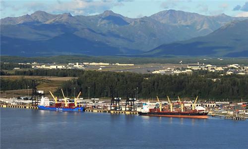 安克雷奇港口<br>        The Port Of Anchorage